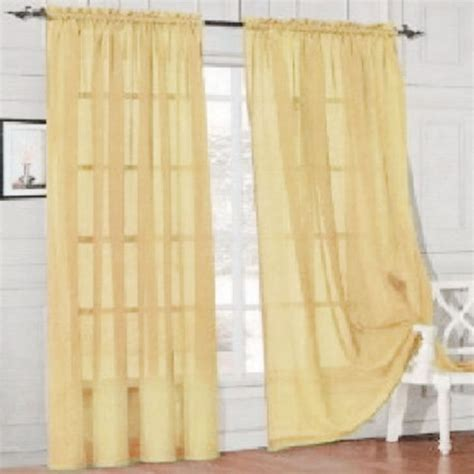 scarf curtain multi color drape panel scarf sheer valances door window