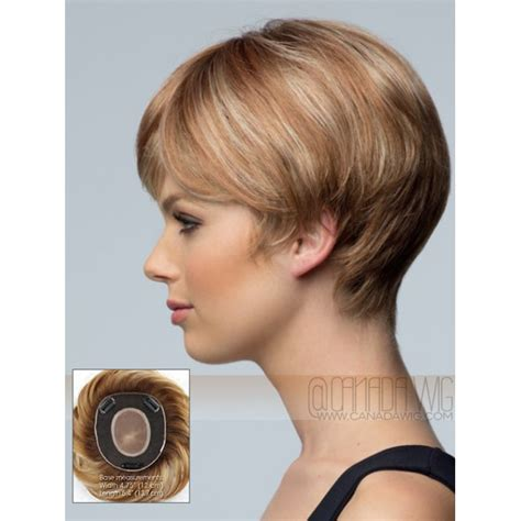 Toppers For Short Hair | short mono hand tied hair topper