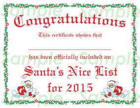 Santa Claus Certificate Template by 7 Best Images Of Blank List Certificate Printable