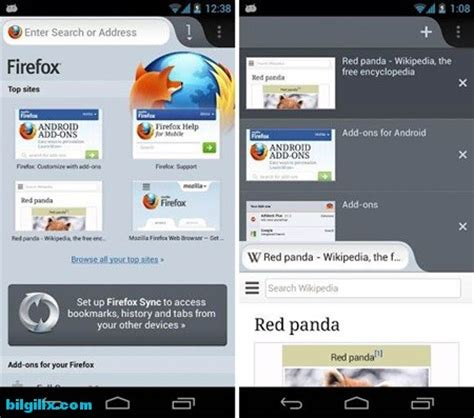 firefox browser for android android i 231 in firefox internet tarayıcısı firefox browser for android indir