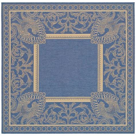 safavieh cy2965 3103 courtyard indoor outdoor area rug blue lowe s canada safavieh courtyard blue 7 ft 10 in x 7 ft 10 in square indoor outdoor area rug