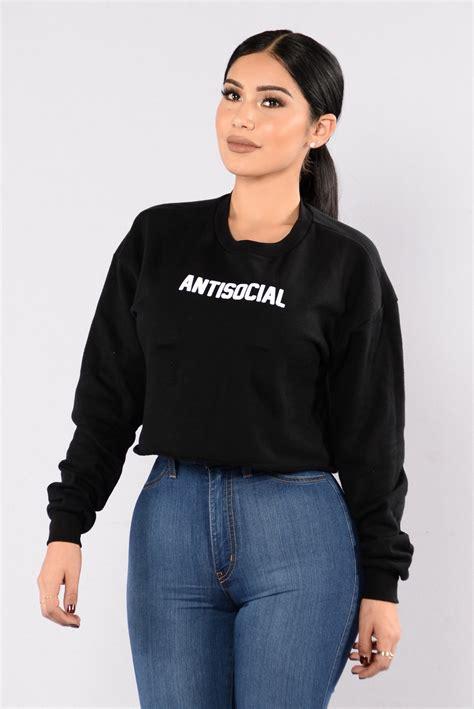 Jaket Hoodie Jumper Polos Pria Premium Material Black antisocial sweater black