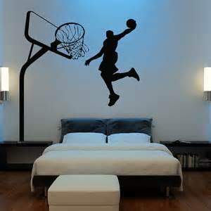 Basketball Wall Stickers Huge Basketball Wall Decal Decor Art Stickers By Happywallz