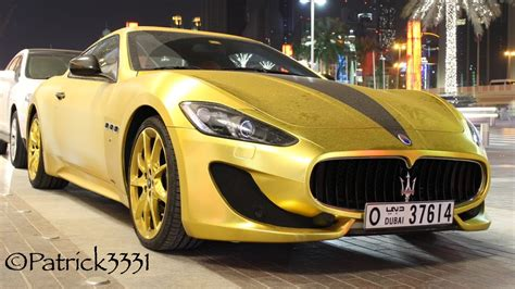 gold maserati gold wrapped swarovski covered maserati granturismo