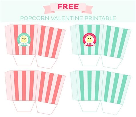 8 best images of printable popcorn box printable popcorn