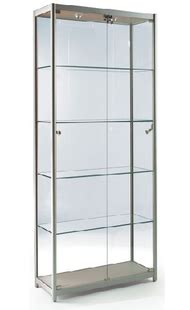 Rak Kosmetik Aluminium showcase boutique kasus model kaca lemari kaca halus