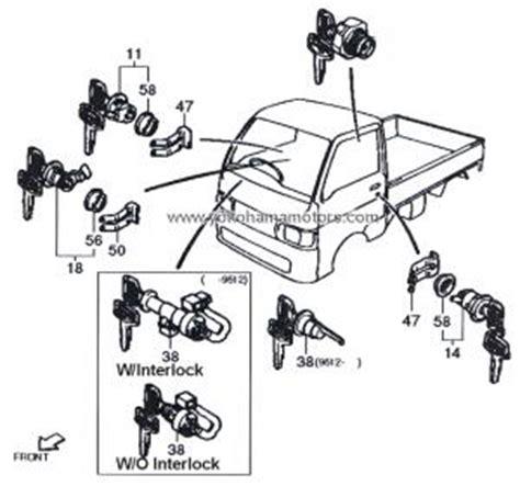 Cover Clutch Matahari Sirion Spare Part Daihatsu daihatsu s100 s110 s120 s130 rh door lock kit