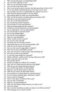 50 questions on
