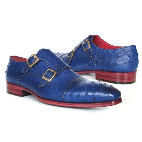 paul parkman shoes paul parkman ostrich quill monk shoes blue