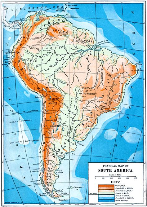 map of america showing mountains map of guyana showing mountain ranges
