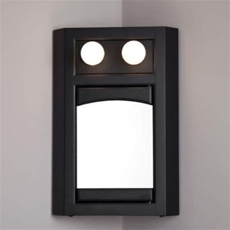 Corner Mirror Cabinet With Light by Corner Medicine Cabinet With Lighted Woodworking