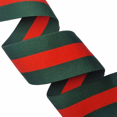 Rubber Green green striped gucci style rubber elastic trim diy