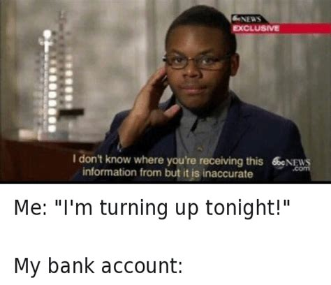 me bank account finance memes on sizzle money and tfw