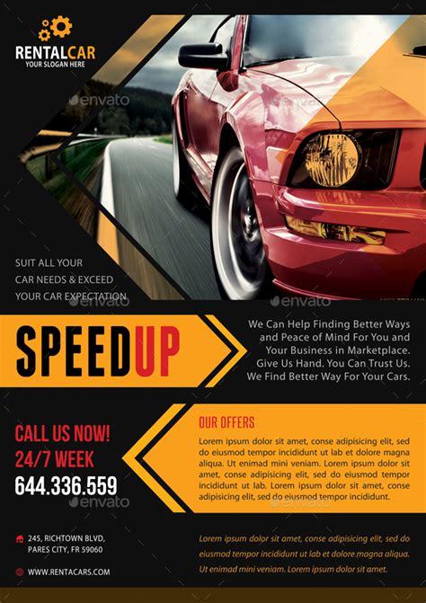 automotive car rental poster bundle   rapidgraf