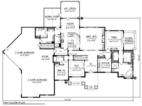 4 bedroom ranch house floor plans 4 bedroom house floor