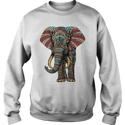 ornate elephant color version shirt hoodie tank top