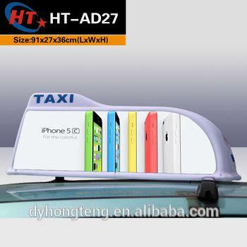 Car Roof Advertising Box - white sharp shape led car roof box for advertising buy