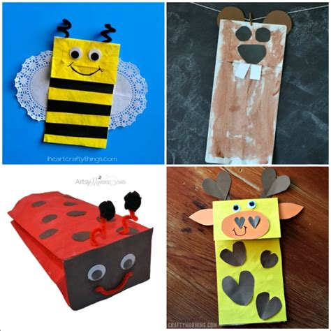 Craft Paper Bags - 20 paper bag animal crafts for i crafty things
