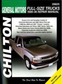 Chevrolet Repair Manual Chilton 1999 2007 Chevrolet Gmc Ups Suvs Repair Manual