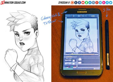 Note 5 Sketches by My Sketch On Galaxy Note 2 By Sykosan On Deviantart