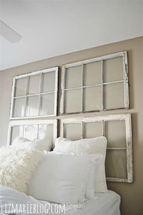 low headboard for window diy antique window headboard