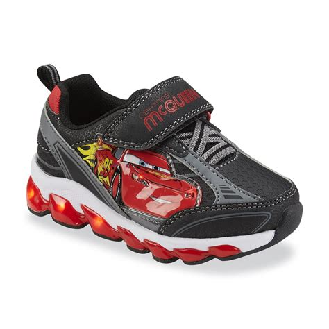 Disney Toddler Boy S Cars Black Gray Light Up Shoes