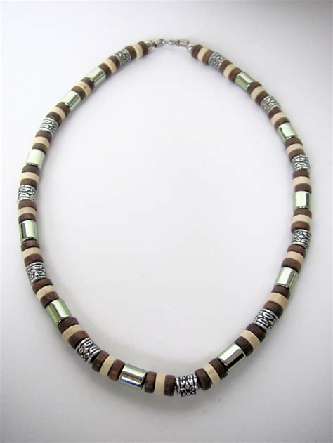 brown beaded necklace tri tone brown surfer beaded necklace s jewelry