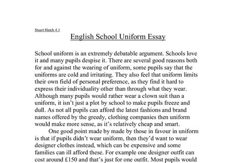 Persuasive Essay On Wearing School Uniforms by Argumentative Essay About Uniforms In Schools Costa Sol Real Estate And Business Advisors