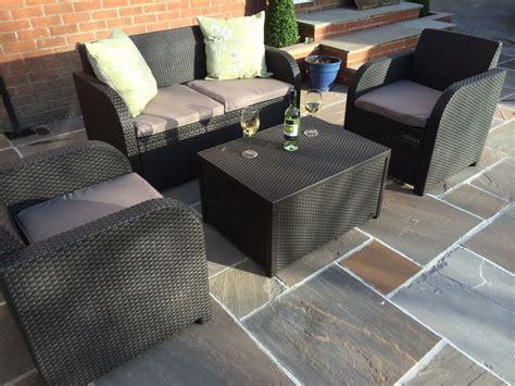 carolina patio furniture allibert carolina rattan garden furniture patio set anthracite c or brown ebay