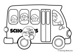 color of school buses school transportation coloring pages for