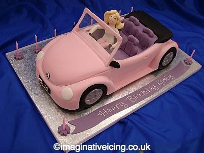 Birthday Girls? Pink Car Cake   Imaginative Icing   Cakes
