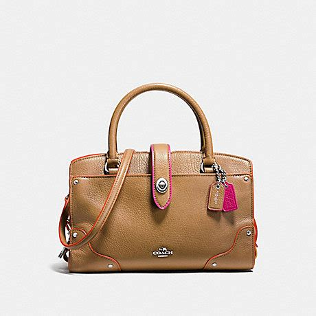 Coach City Zip Tote Signature Nyc Hotdog Khaki Saddle coach f38318 mercer satchel 24 in edgestain leather silver walnut tricolor coach handbags