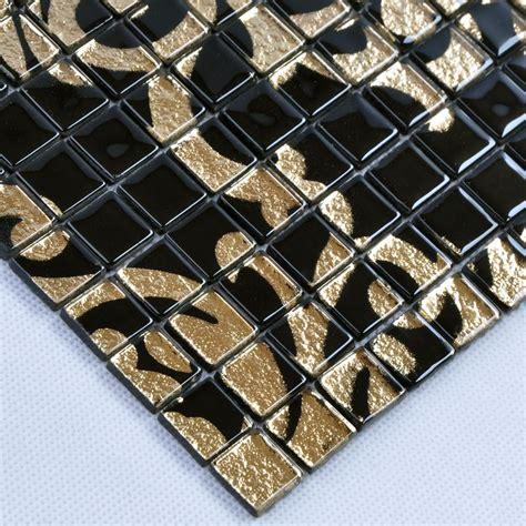 wholesale mosaic tile crystal glass backsplash kitchen crystal glass tile black puzzle mosaic tile hominter com