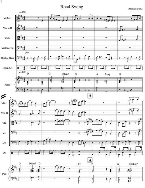 exles of swing music sheet music for jazz strings road swing strings sheet