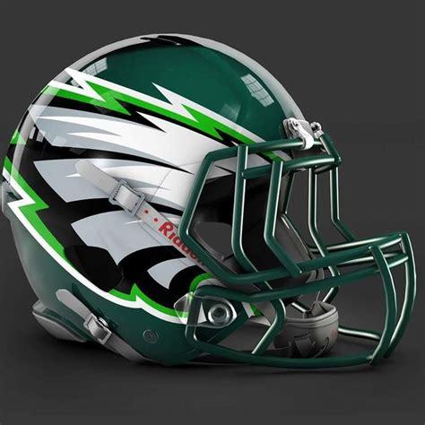 design football helmet logo philadelphia eagles alt helmet design art pinterest