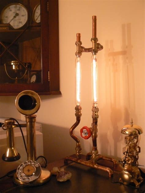 Diy Pipe Desk Steampunk Pipe Lamp Looks Good In Any Laboratory Wired