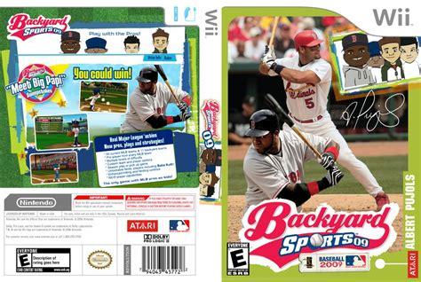 backyard baseball 09 backyard baseball 09 nintendo wii game covers backyard baseball 09 dvd ntsc custom