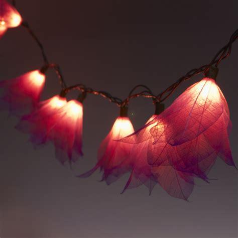 9ft Tropical Flower Lights 110v Ac String Lights Fuchsia Pink Flower String Lights