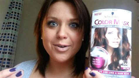 in color review review schwarzkopf color mask 568 chestnur brown