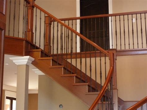 wood banister penticton kelowna stairs and stair railings stair