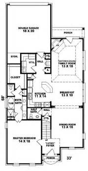 Narrow House Floor Plans Gallery For Gt Narrow Lot House Plans With Rear Garage