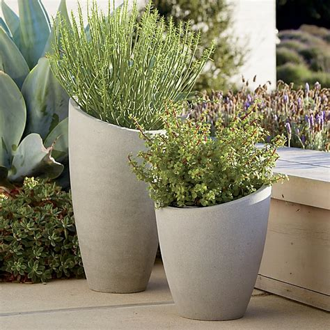 pots and planters slant planters crate and barrel