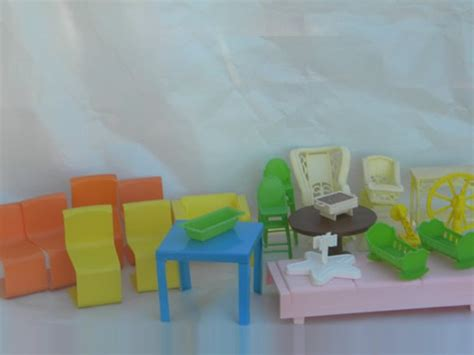 large plastic doll house large lot of retro 1970s mattel toy plastic barbie dollhouse furniture