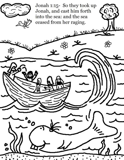 coloring page jonah jonah and the whale coloring pages