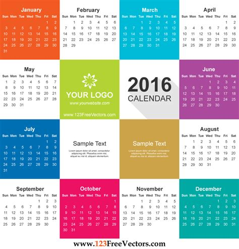 Business Card Calendar Template 2016 Free by 2014 Business Card Calendar Vector Image Collections