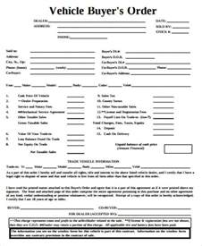 sample vehicle order form 10 examples in word pdf