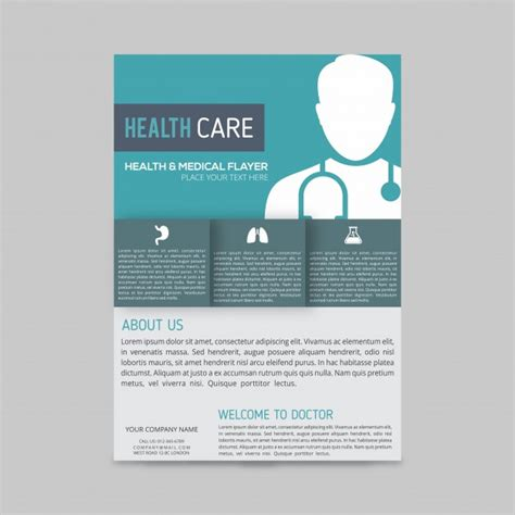 Modern Medical Brochure Template Vector Free Download Healthcare Brochure Templates Free