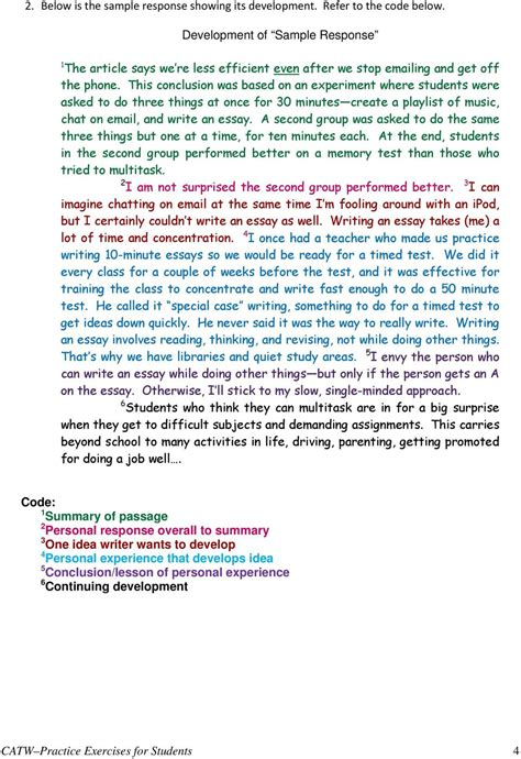 Cuny Assessment Test Writing Sle Essay cuny assessment test in writing catw pdf