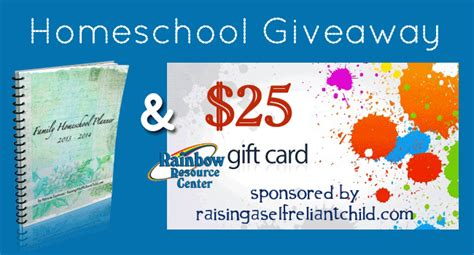 Homeschool Giveaways - homeschool giveaways 25 rainbowresource com gc homeschool planner
