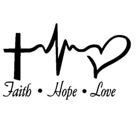 imagenes faith hope love 3 quot 4 quot 5 vinyl cross pulse heart faith hope love christian